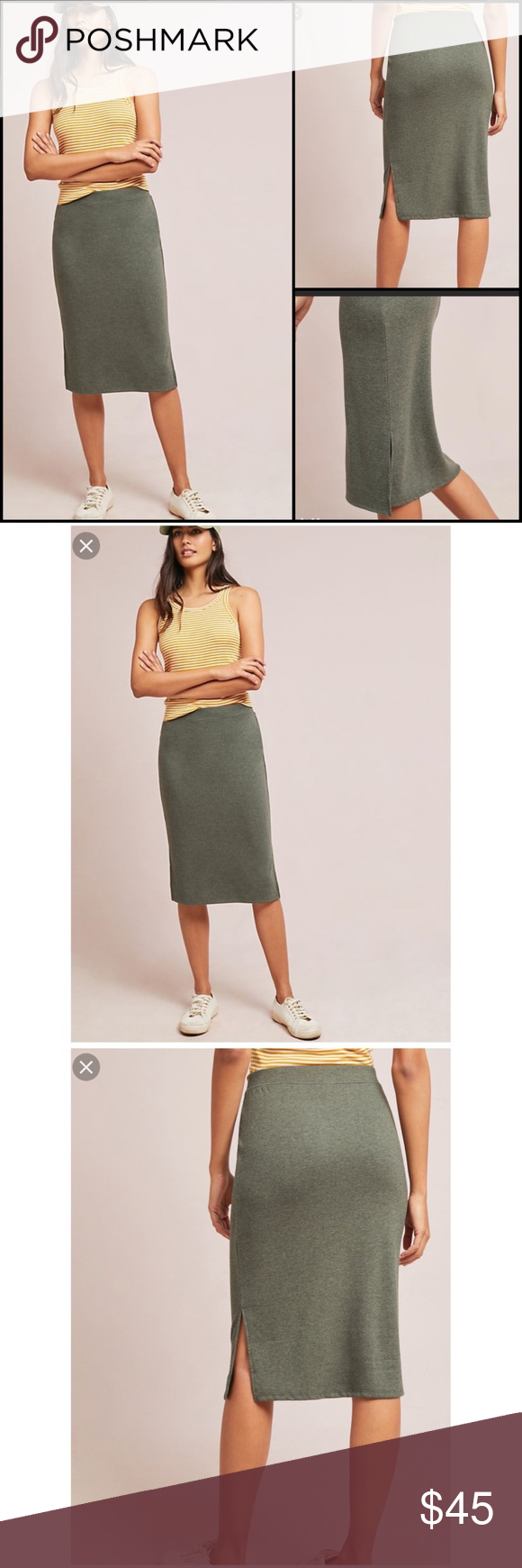 413cc6320184 Anthropologie Naomi Knit Pencil Skirt Small NWT BNWT brand new with tags  rating Polyester, rayon, spandex Pull on styling Machine ...