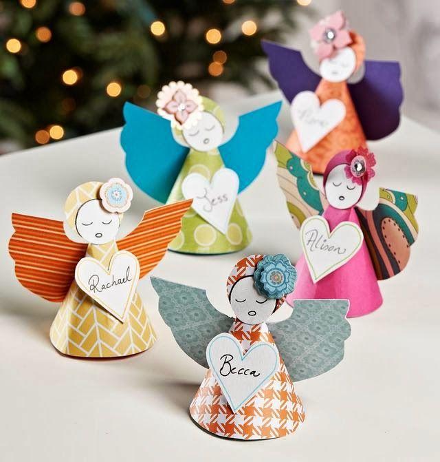 anjos de papel na decora o natalina do it yourself pinterest weihnachten basteln und. Black Bedroom Furniture Sets. Home Design Ideas