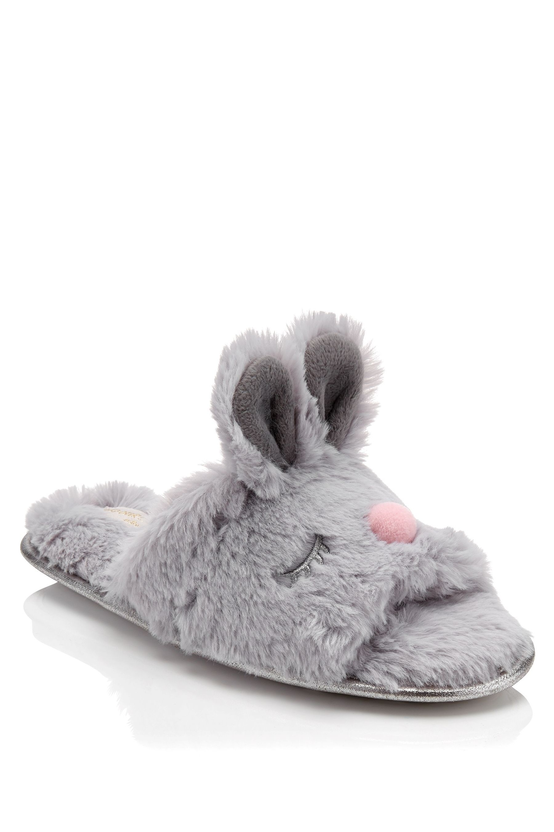 60a3828bc Womens Head Over Heels Bunny Face Mules Slippers - Grey | Products ...