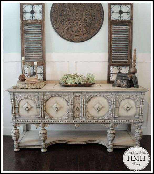 sold antique sideboard french country buffet jacobean credenza shabby chic console table. Black Bedroom Furniture Sets. Home Design Ideas
