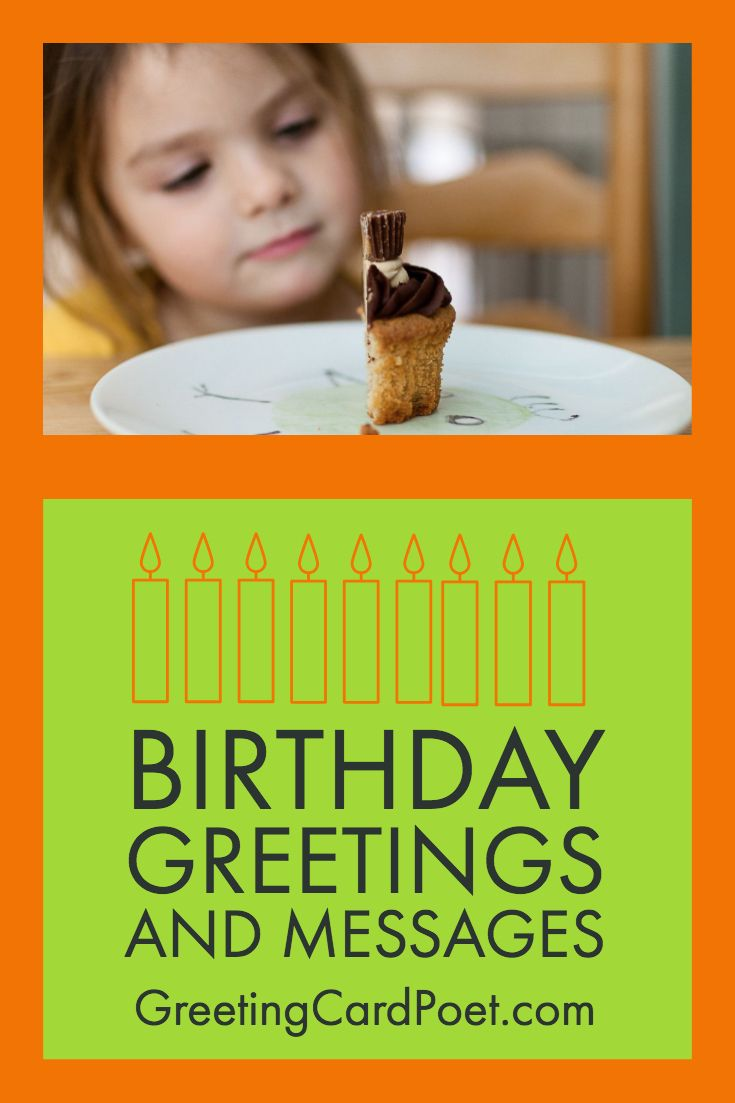 Birthday greetings to brighten a day and share in the