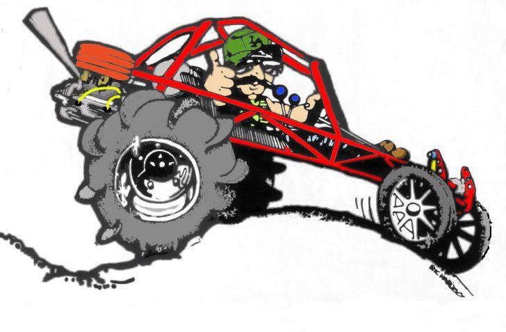 Baja Buggy Cartoon T Shirt 4119 Off Road Ebay - Car Cabin
