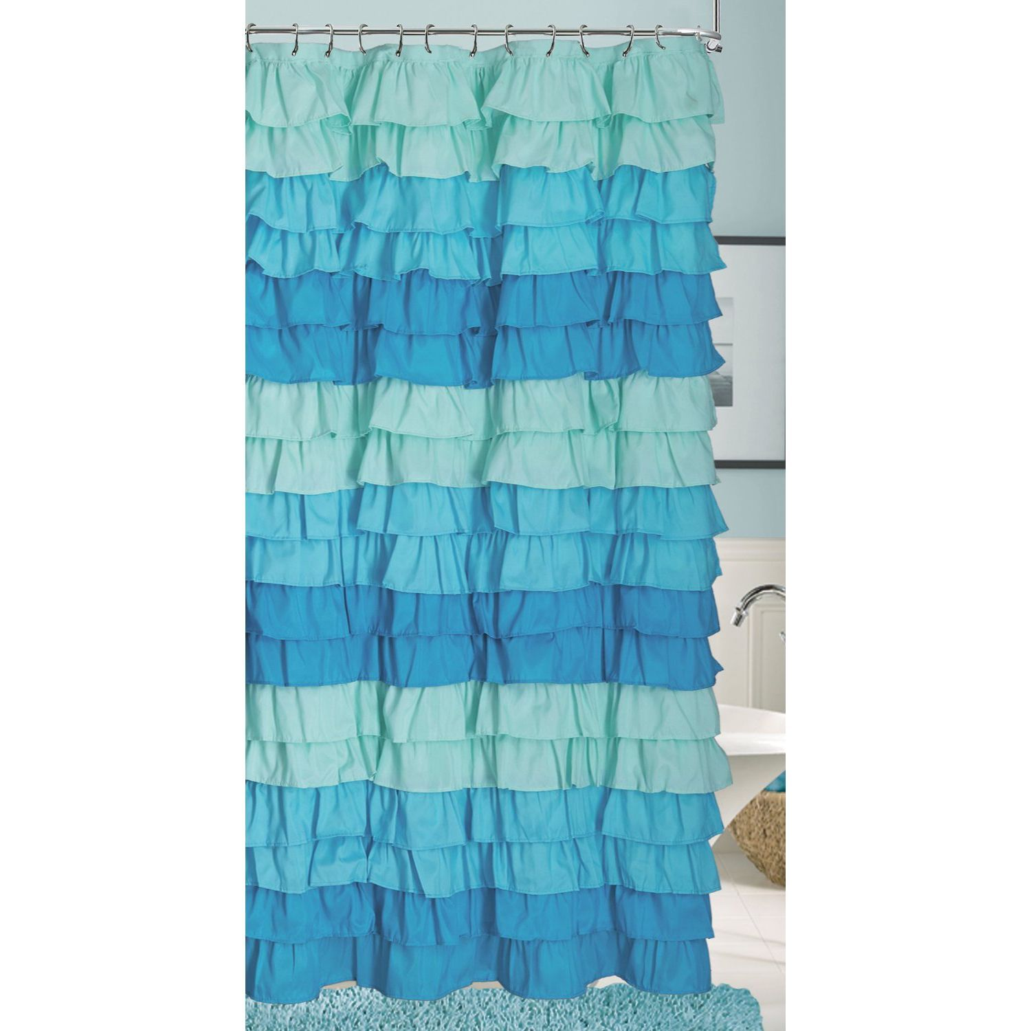 Spice up shower time with this Venezia shower curtain that adds ...