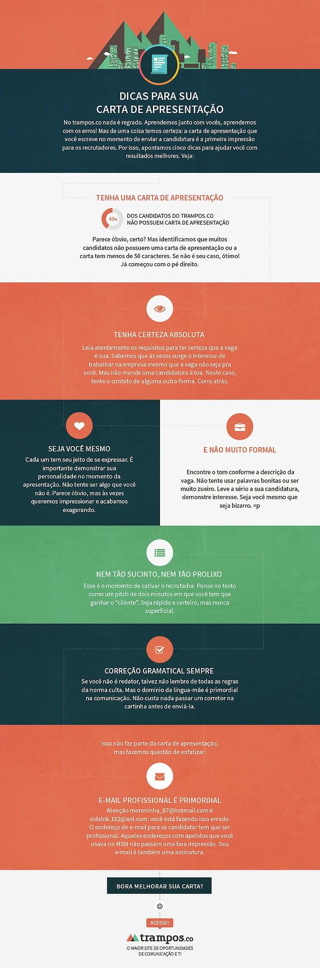 Infográfico Dicas Para Melhorar Sua Carta De Apresentação