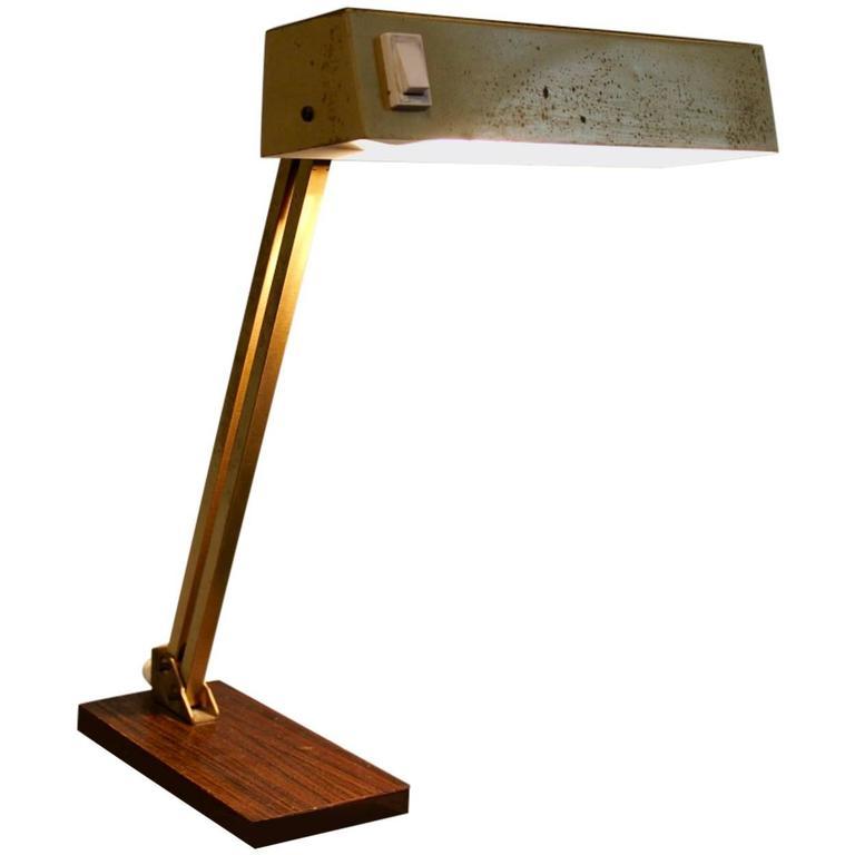 Adjustable Brass Table Lamp By Pfaffle Leuchten Schwenningen 1950s Germany Lamp Brass Table Lamps Desk Lamp