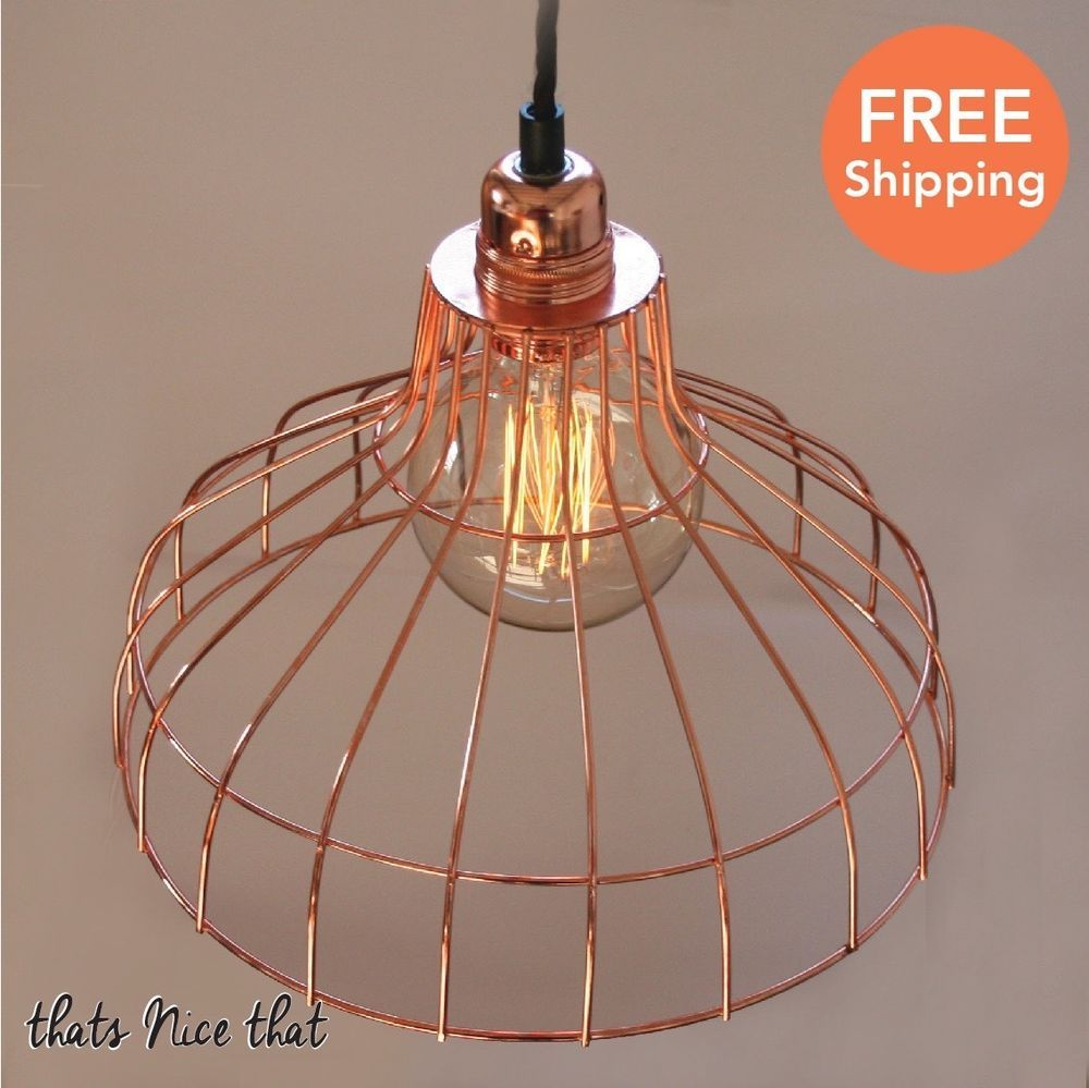 Industrial copper parasol lampshade bulb light lamp shade cage wire industrial copper parasol lampshade bulb light lamp shade cage wire vintage fun greentooth Images