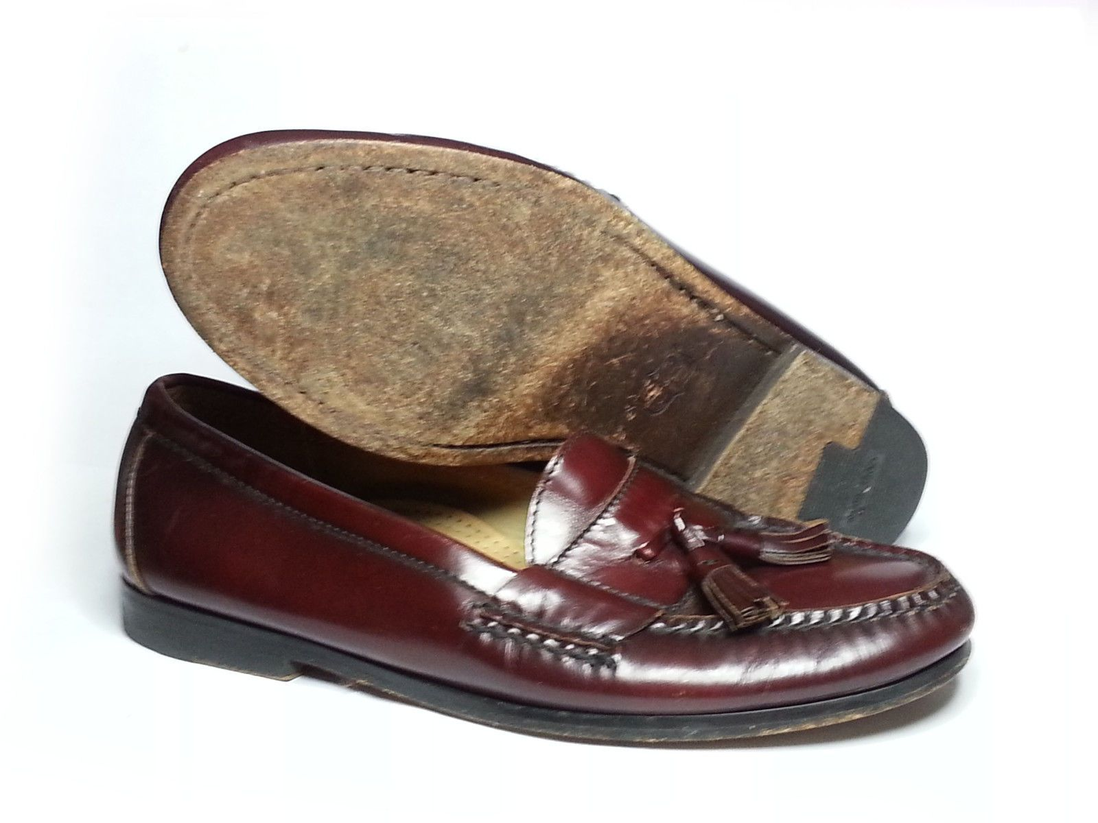 bfb17991fde  cloth shoes boots Cole Haan Pinch Tasseled City Moccasins loafers  Brown-Burgundy leather Size