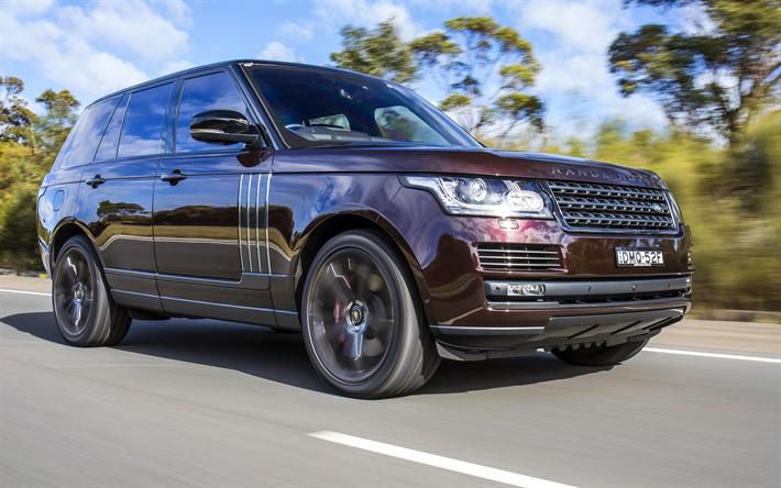 Download Wallpapers Range Rover Vogue 4k 2018 Cars Maroon Range