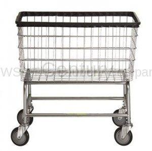 R B 200f Large Capacity Rolling Laundry Cart Chrome Basket