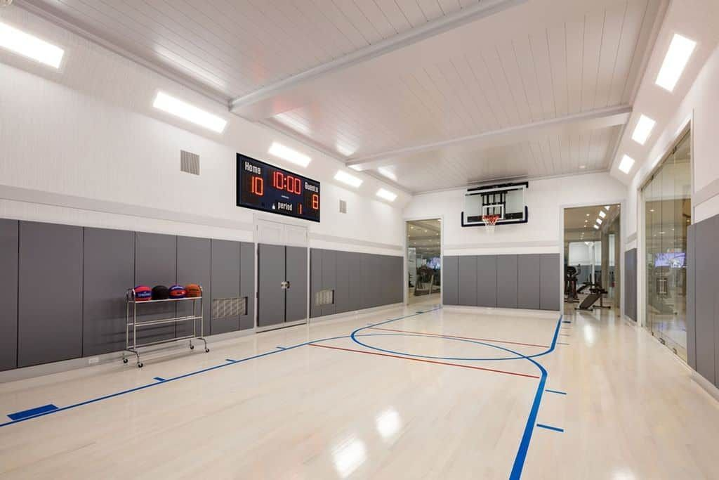 23 000 Sq Ft Southampton Mega Mansion Home Basketball Court Indoor Sports Court House