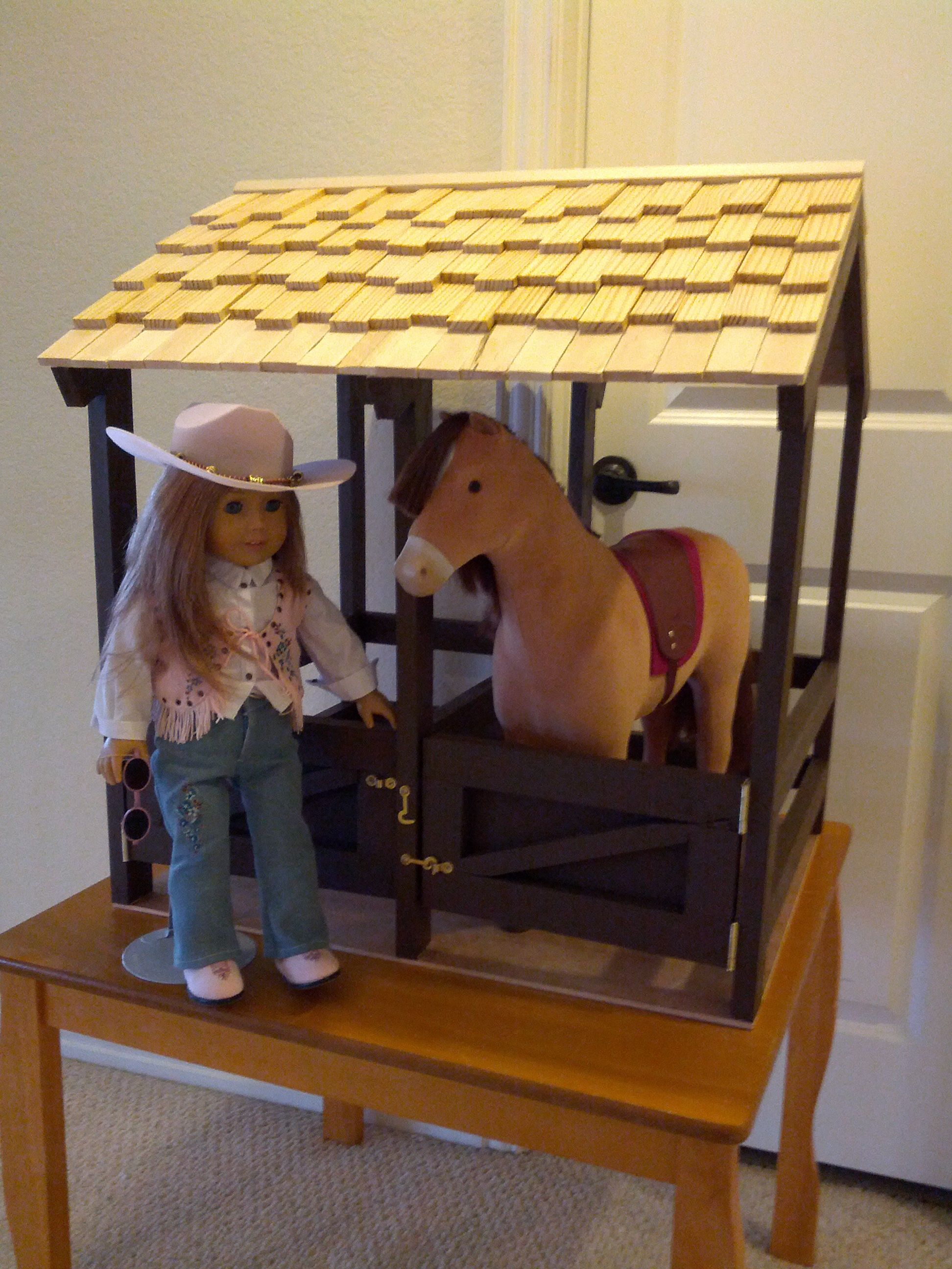 Images horse stable for dolls american girl doll horse stable horse stables for american girl or dolls diy projects solutioingenieria Choice Image