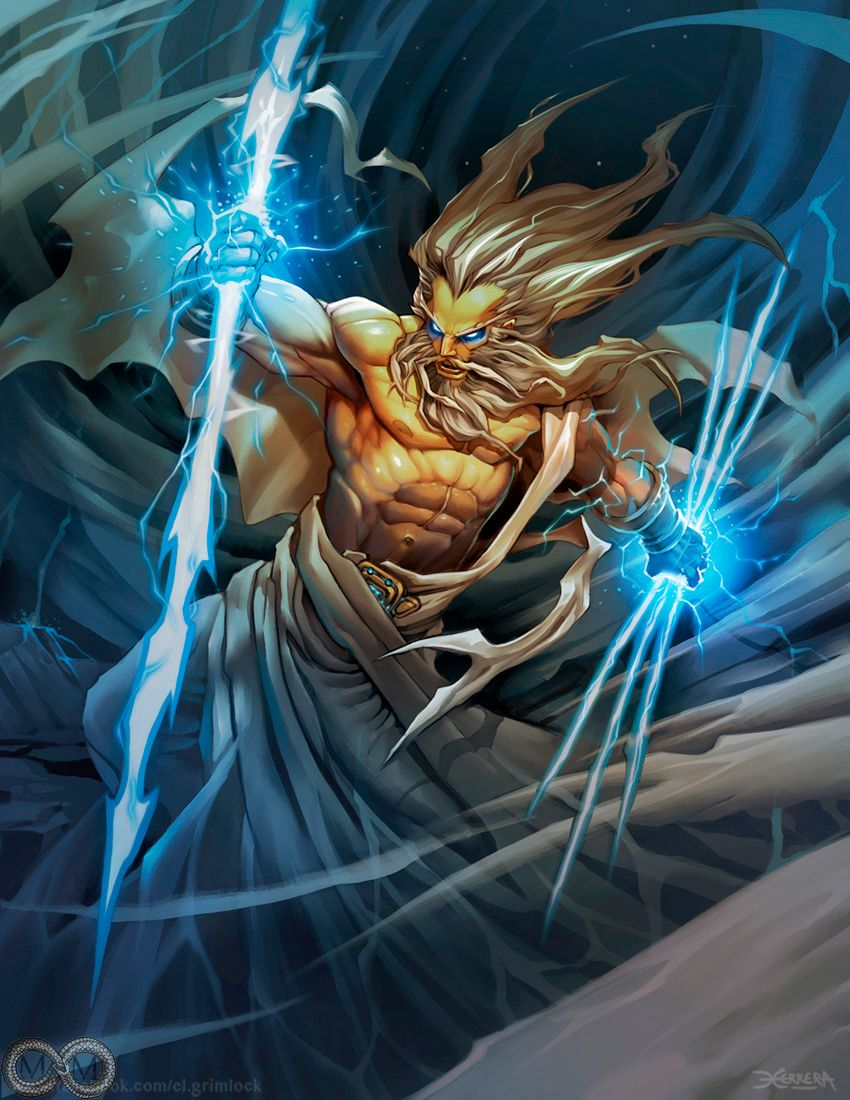 Zeus King of the Greek Gods. God of the sky, lightning ...
