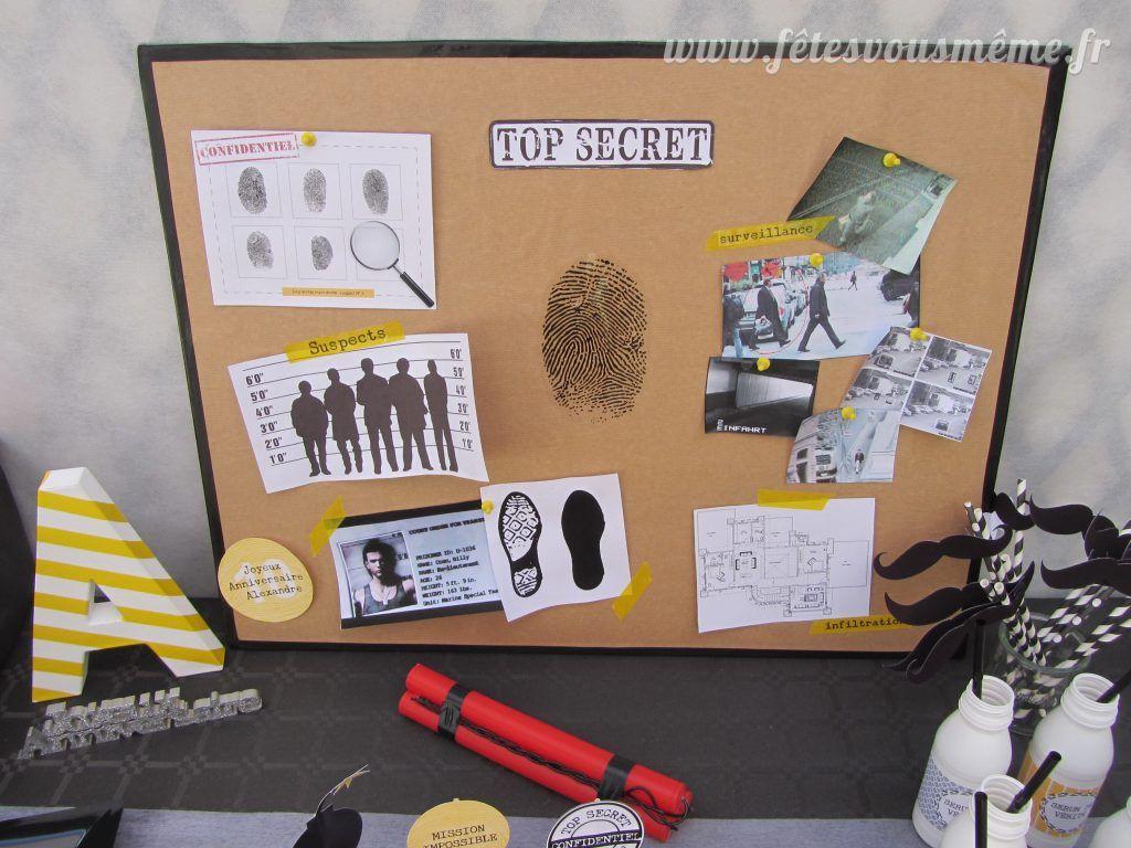 Top tableau-enquete-agent-secret | Anniversaire Agent secret  ZN04
