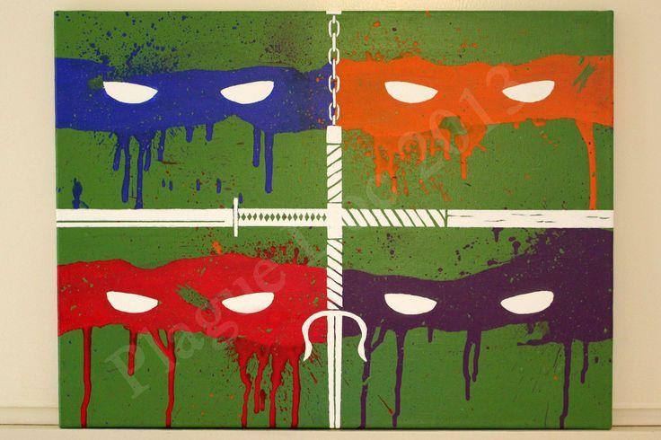 Ninja Turtles Wall Art Google Search Turtle Painting Ninja Turtles Art Graffiti