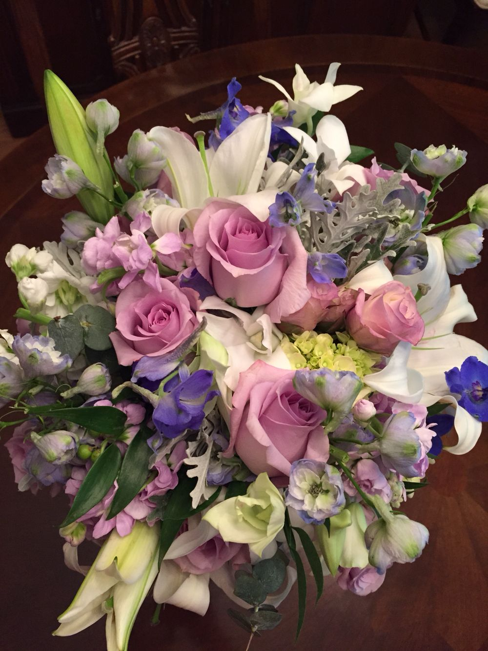 Bridal Lavender Rose Bouquet By Fun And Fancy Flowers In Suwanee Ga