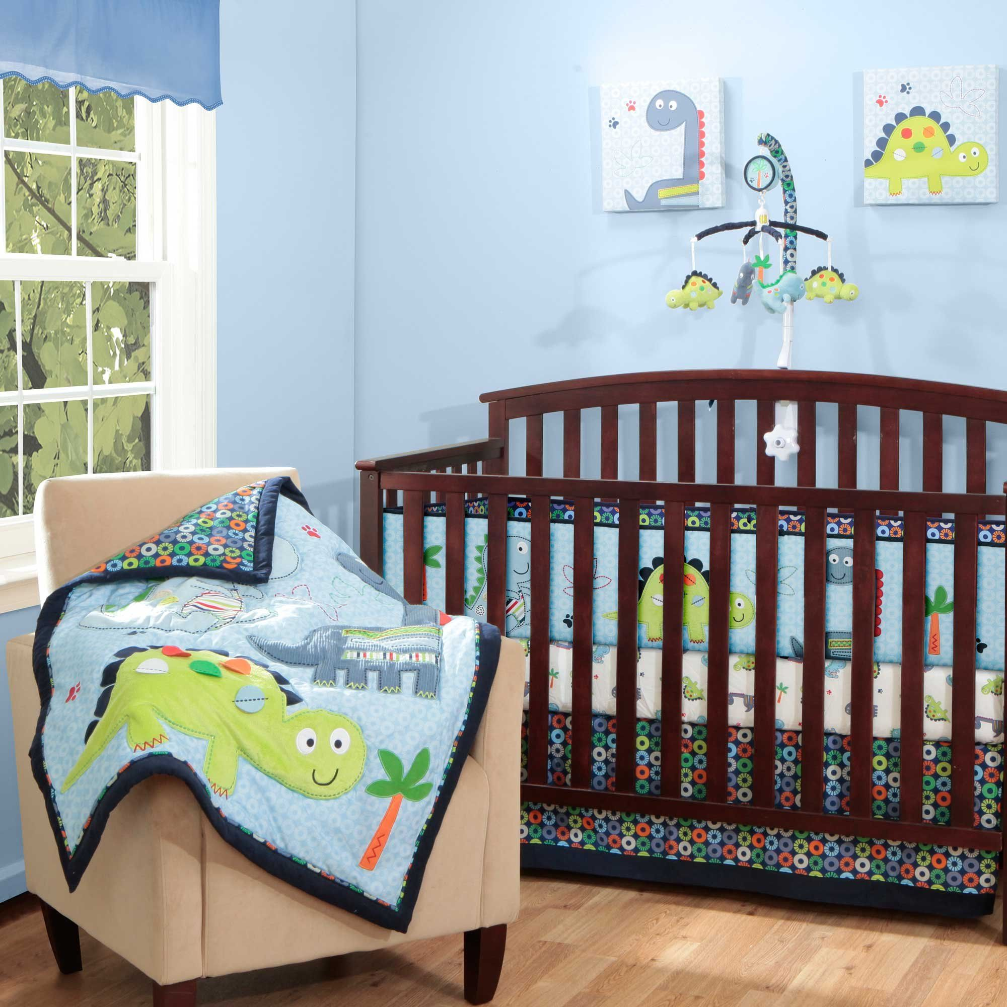 Boy So Cute Amazon Com Little Dino 4 Piece Baby Crib Bedding Set With Bumper By Bananafish Baby Crib Bedding Boy Baby Boy Cribs Baby Crib Bedding