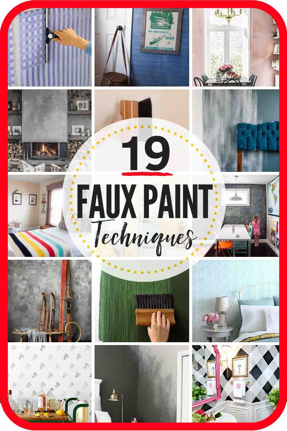 19 Faux Painting Techniques That Don't Suck. | The Heathered Nest