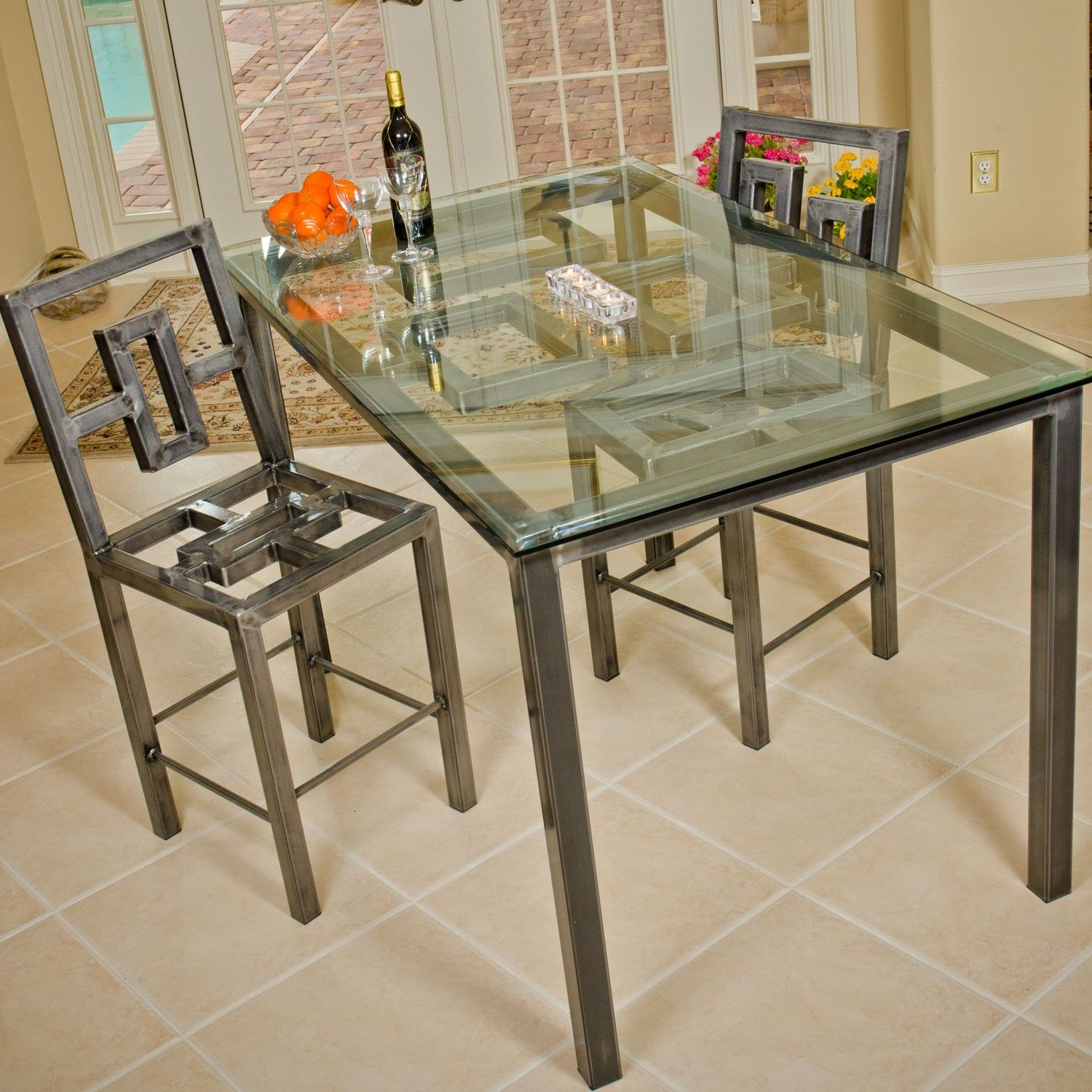 Boltz Steel Furniture Steel Dining Table Metal Dining Table