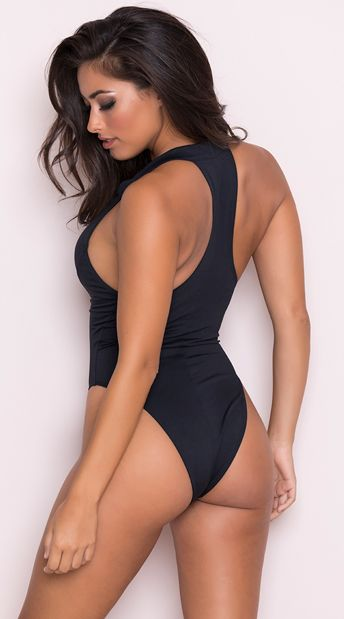 120201abed Yandy Beach Babe One Piece Swimsuit, black one piece swimsuit - Yandy.com