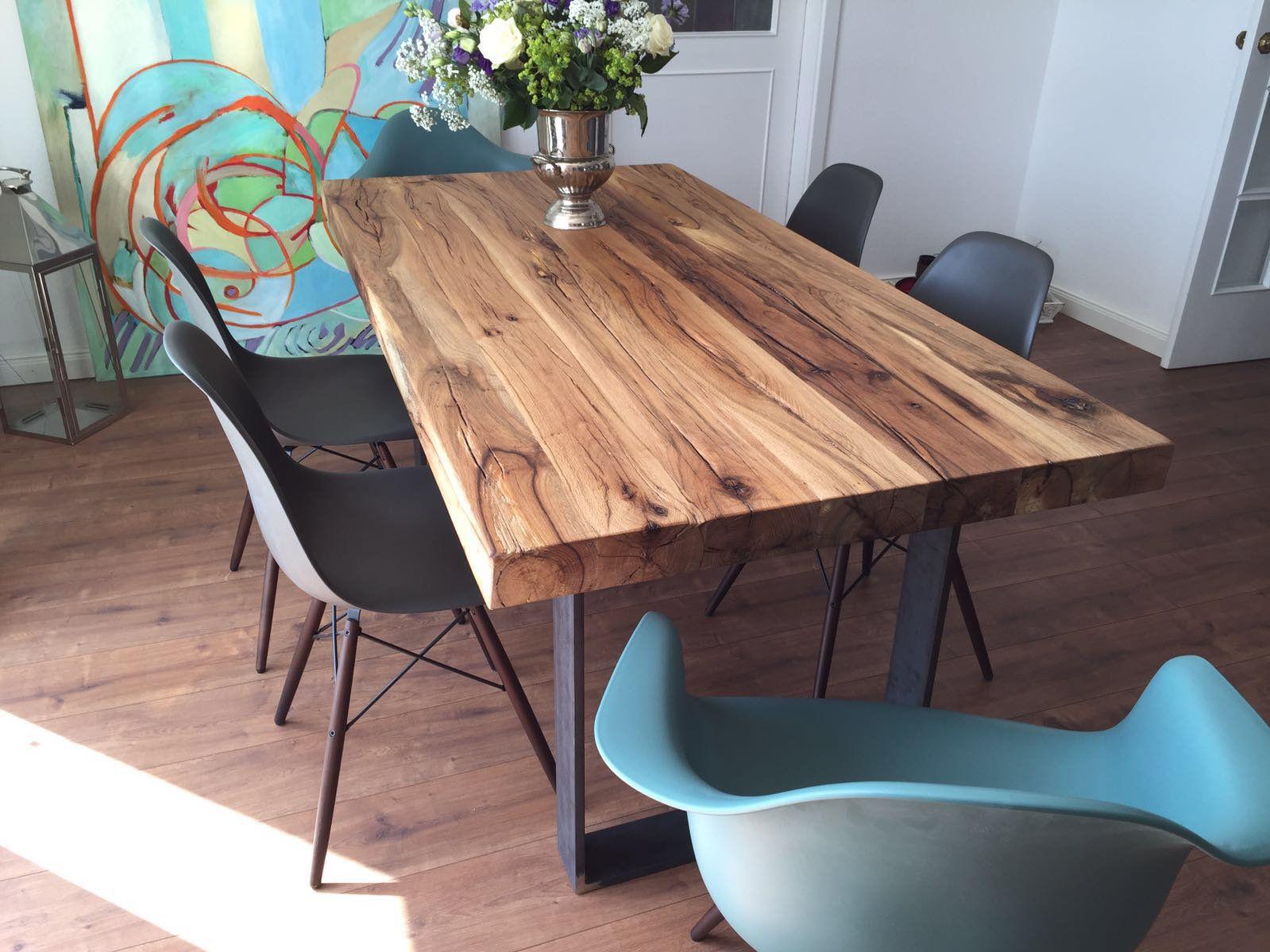 Esstisch | Massivholztisch aus Eichenholz-Altholz | Eichentisch ...