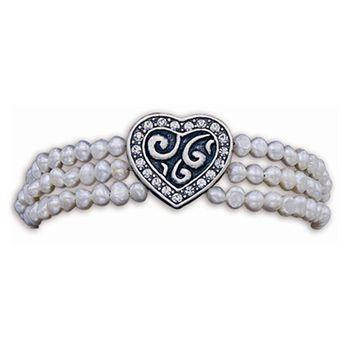 Montana Silversmiths Women's Bridal Pearl Western Bracelet