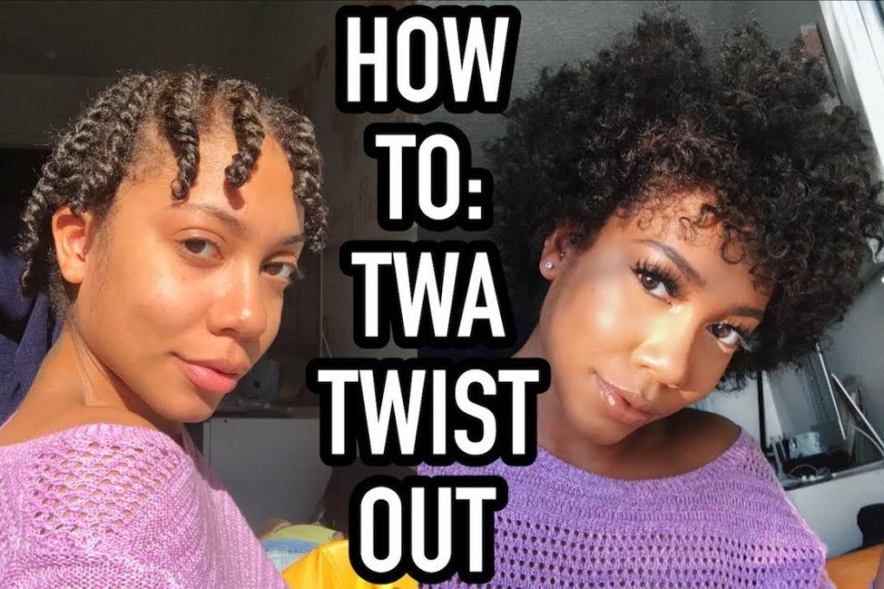 Twist Out On Short Natural Hair Natural Hair Twists Short