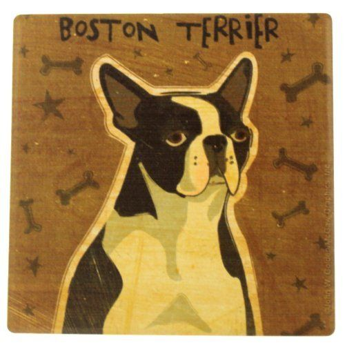 Boston Terrier Single Drink Coaster - Style fs-ug20 by Thirstystone. $6.59. Single Absorbent Beverage Coaster. Make your own set or get just one. Printed and Packaged in the USA. Description: Single Absorbent Beverage Coaster. Cork-backed to protect furniture. Large surface area to catch more drips. Printed and Packaged in the USA. Each coaster measures 4.25 inches across