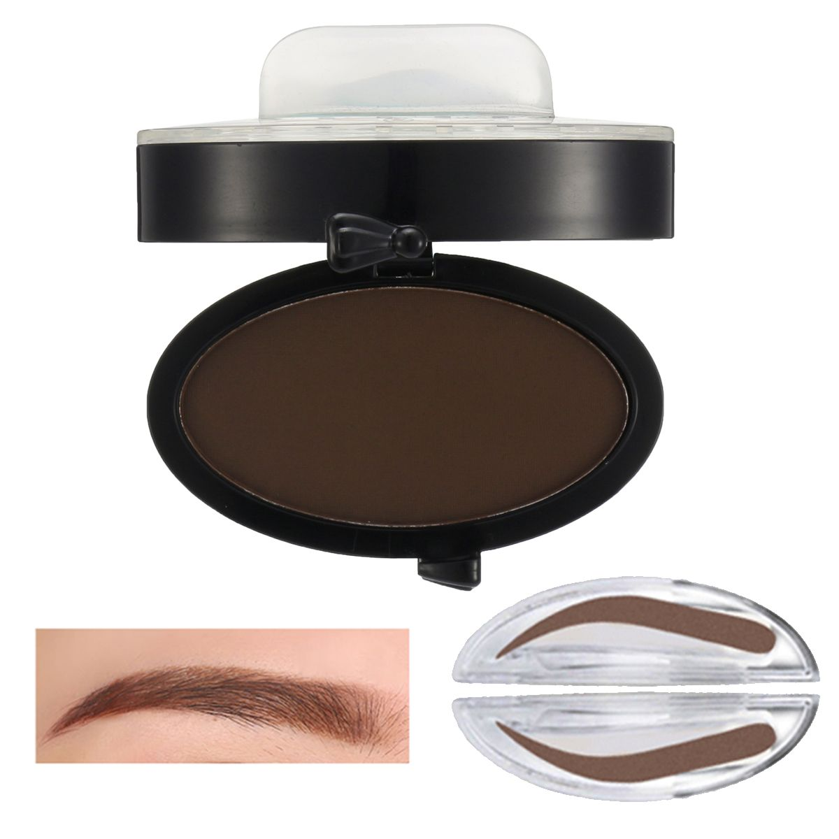 Eyebrow Stamp Powder Enhancer Mineral Brown Makeup Pigments Cosmetic