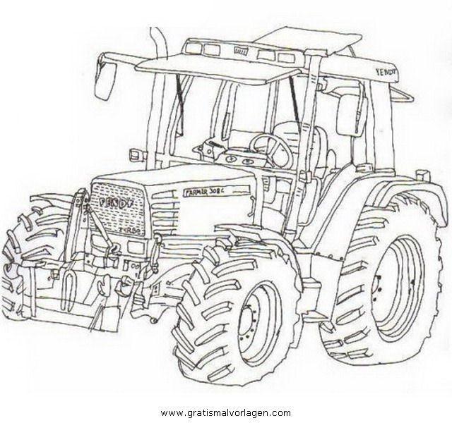 Ausmalbilder Traktor Fendt Ausmalbildertraktorfendt