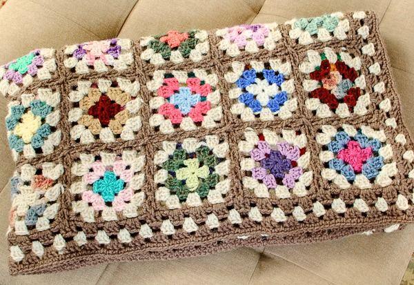 Free Crochet Granny Square Blanket Pattern Square Blanket Crochet