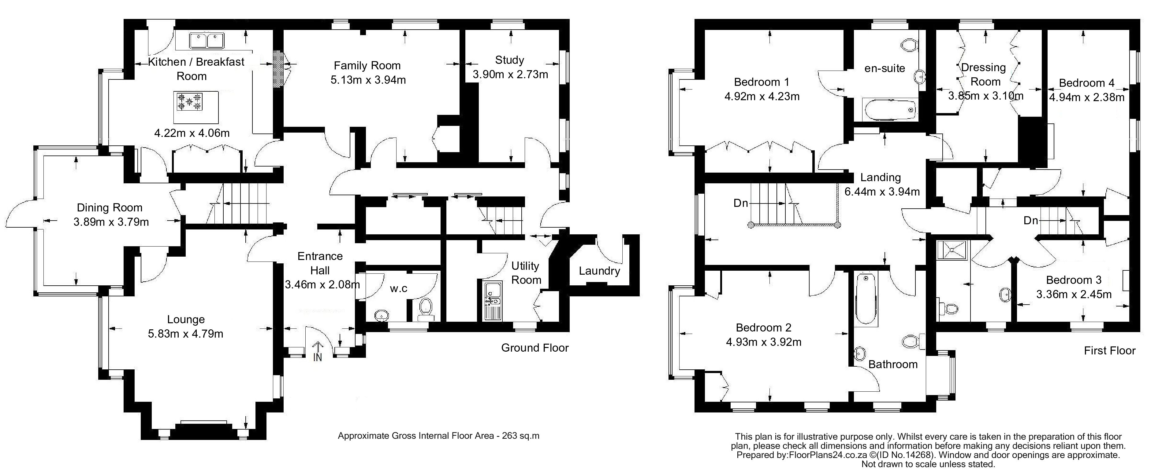 Classic Layout - 4 Bedroom - 263 sq.m - FloorPlans24 delivers a solution that works for YOU – Talk to us…