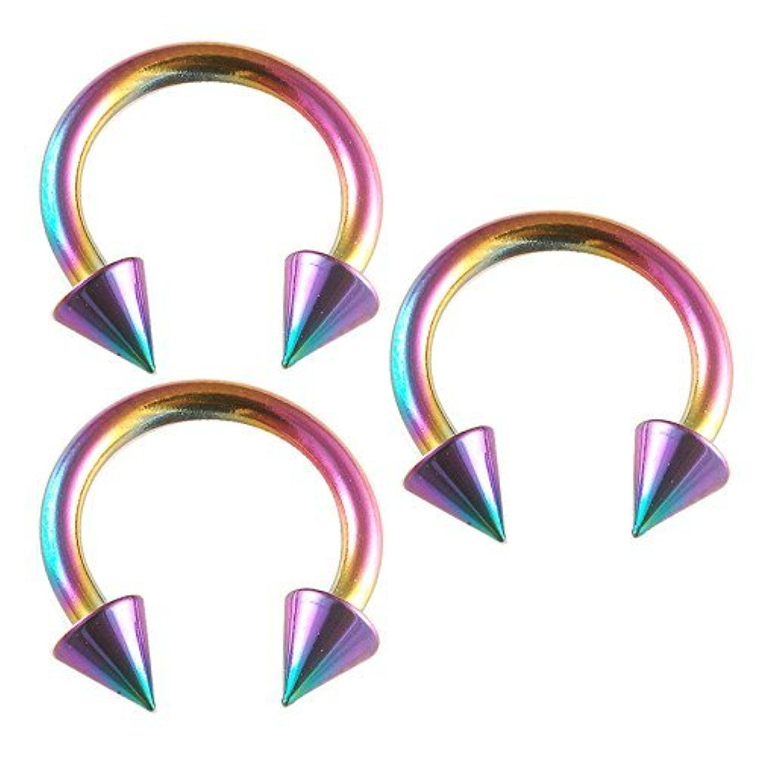8 Inch 10mm Long Rainbow Color Anodized