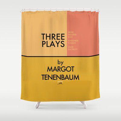 Three Plays By Margot Tenenbaum Shower Curtain Wes Anderson Com
