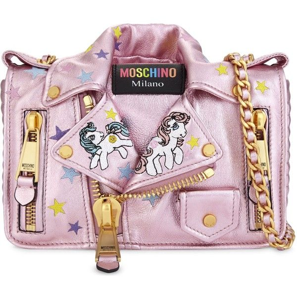 14d25d2c2b6 Moschino My Little Pony leather cross-body bag ( 1,610) ❤ liked on Polyvore  featuring bags, handbags, shoulder bags, leather shoulder bag, leather  cross ...