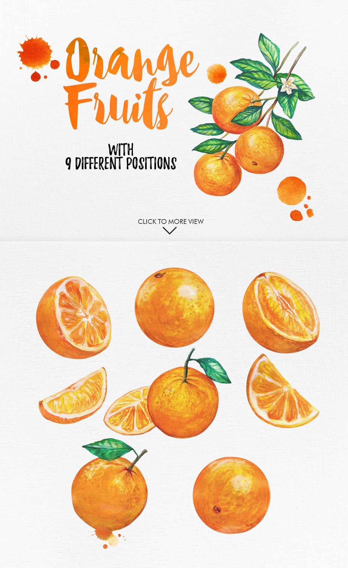 Watercolor fruits vol 2 by graphobia