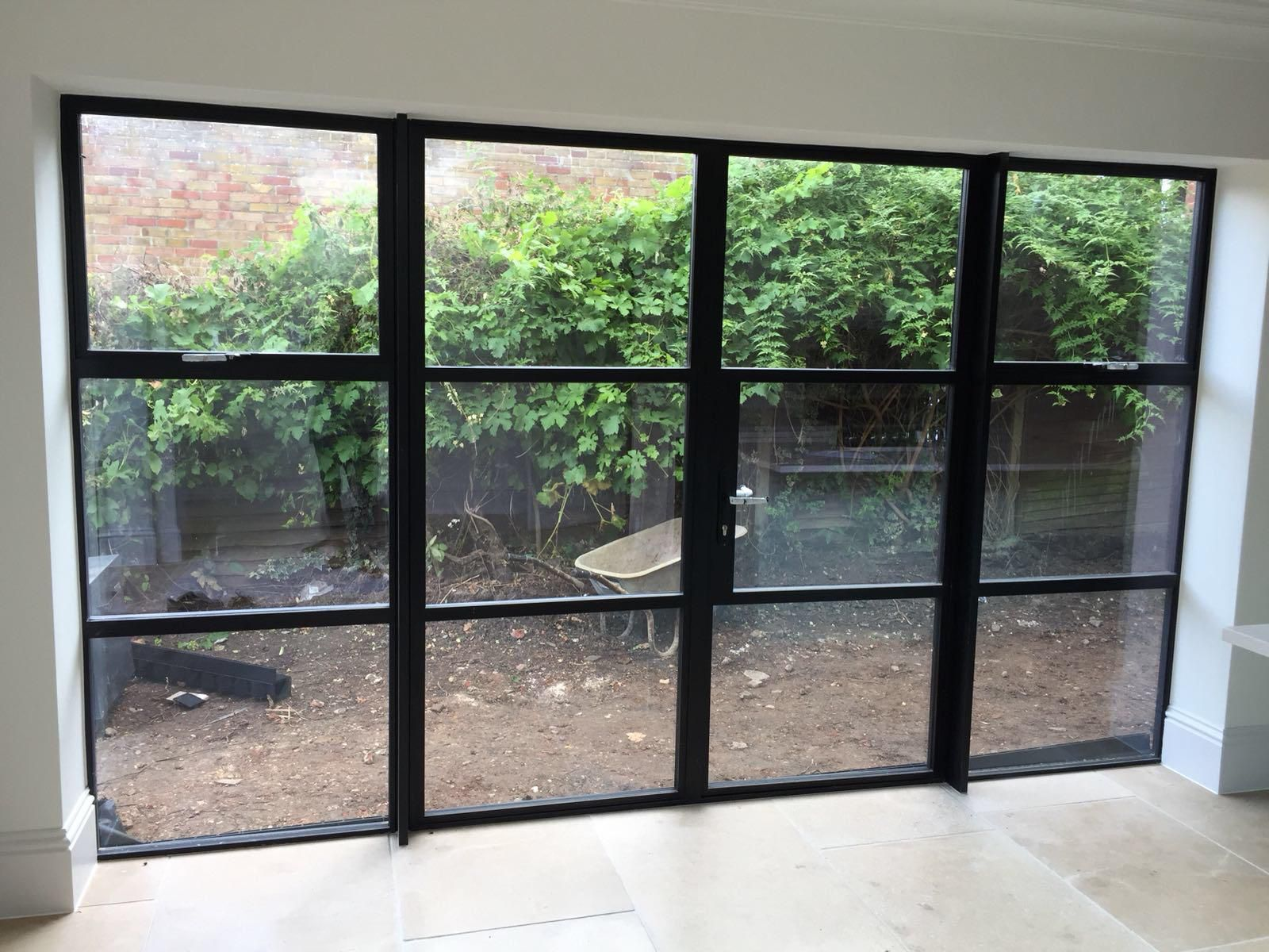 Crittall Style Black Steel Doors Patio Windows French Doors Patio Windows And Doors