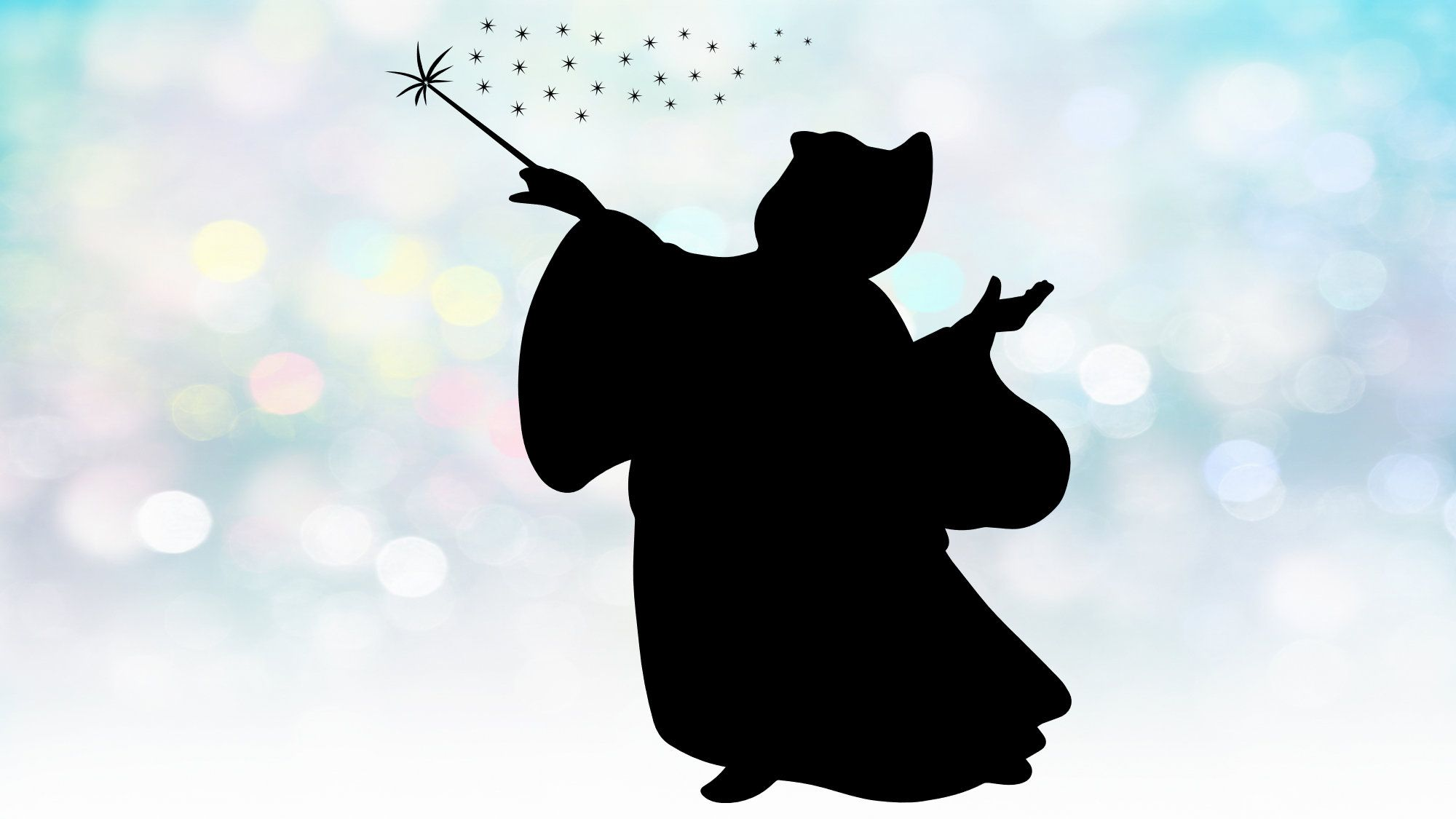 Disney Clipart Simple Easy Large Black White Silhouette Of Fairy Godmother From Cinderella Disney Movie Magical Digital Download Svg Disney Clipart Cinderella Disney Cinderella Fairy Godmother