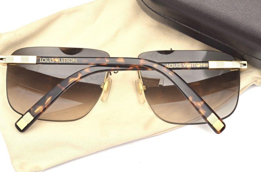 71f0452abc142 Louis Vuitton Attraction Rimless MM Gold Unisex Sunglasses