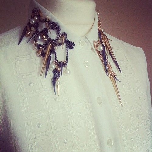 For sale vintage shirt with studded chain collar £19 fit sizes 8-16 (Taken with Instagram)