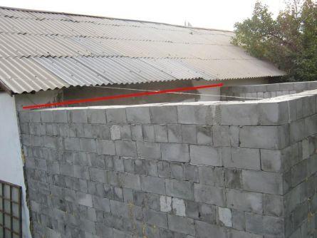 Устройство крыши и перекрытия для жилой пристройки к дому.