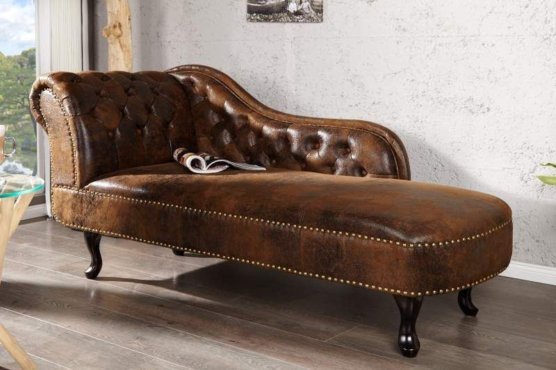 Lenoska Chesterfield Antik Look Hneda Zastaraly Osuchany Povrch Chaise Lounge Sofa Leather Chaise Lounge Chaise