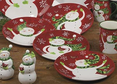 Winter Fun Dinnerware - Snowman Salad Plate - The Weed Patch & Winter Fun Dinnerware - Snowman Salad Plate - The Weed Patch ...