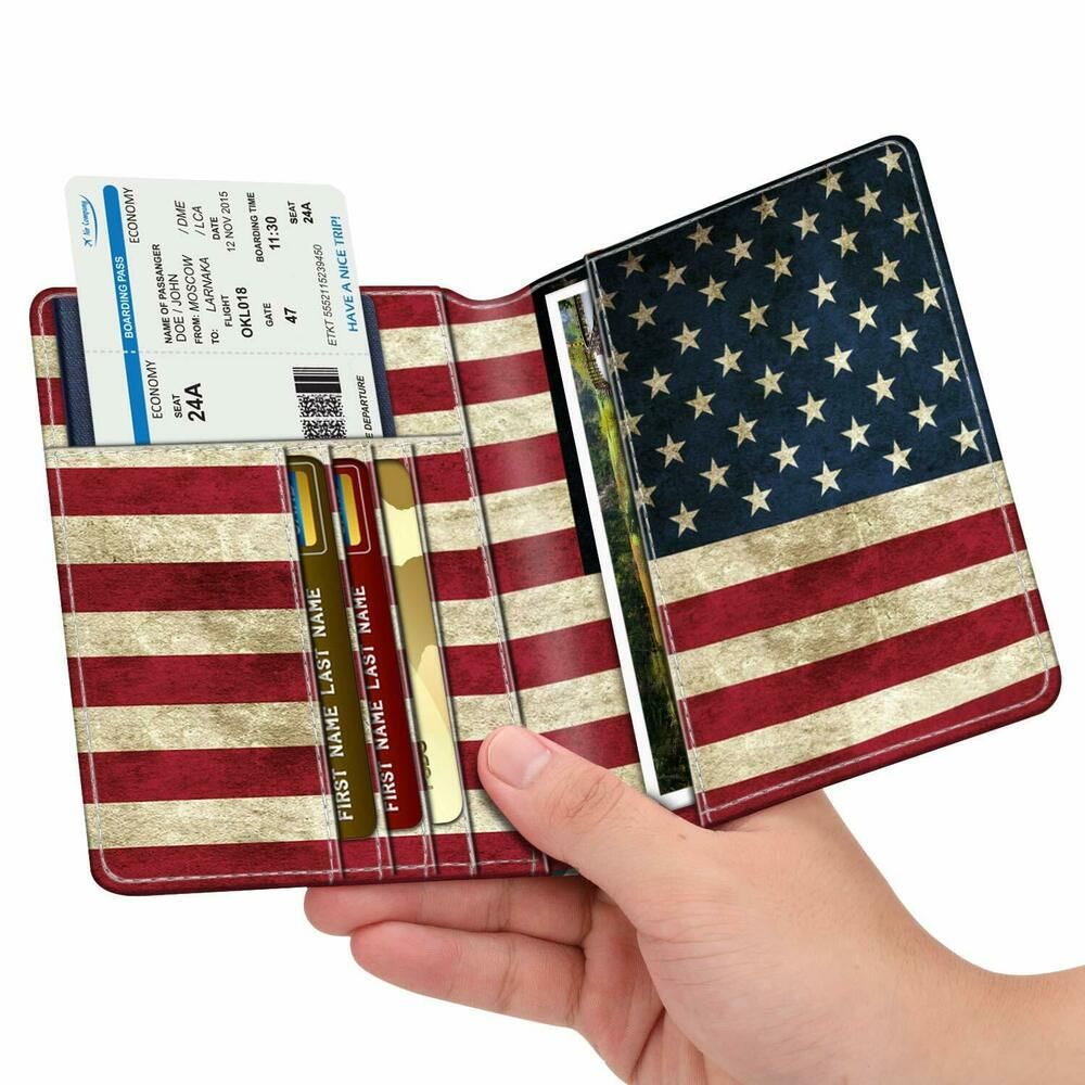 Passport Holder Case Cute And Funny Animals Protective Premium Leather RFID Blocking Wallet Case for Passport