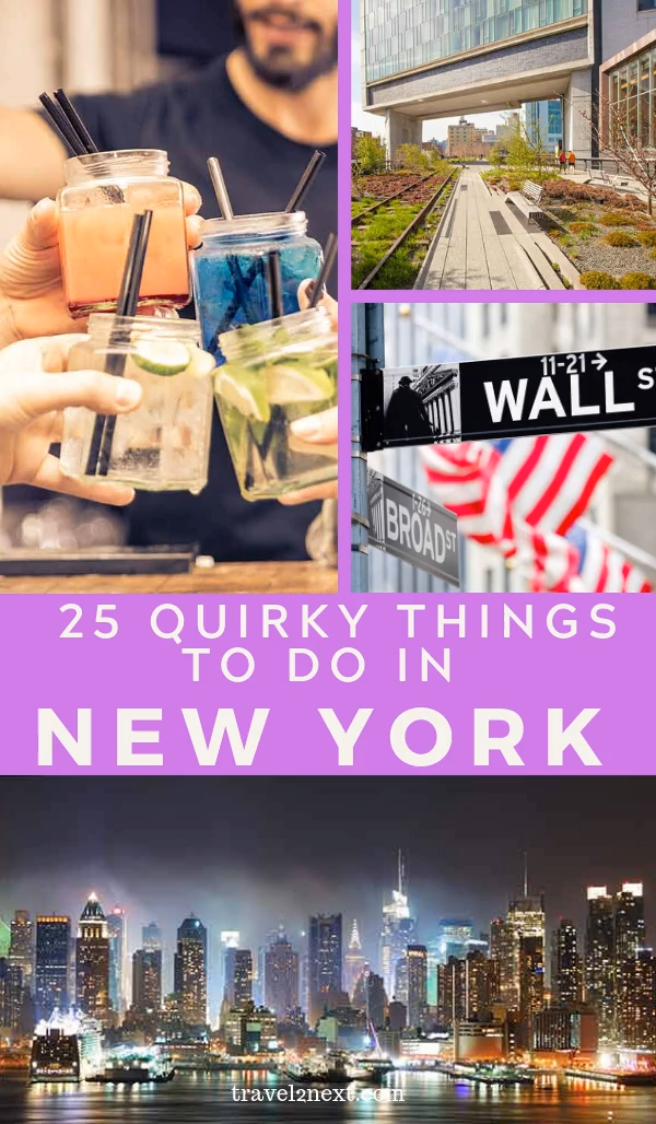 25 Unusual Things To Do In New York. Mention New York and most visitors picture a concrete jungle but you'd be surprised at how many green places there are to hide from the crowds. The Empire State Building and the Statue of Liberty might be landmarks to tick off your bucket list but there are lots of other cool, quirky and unusual things to do in New York. #newyork #travel #usa #nyc