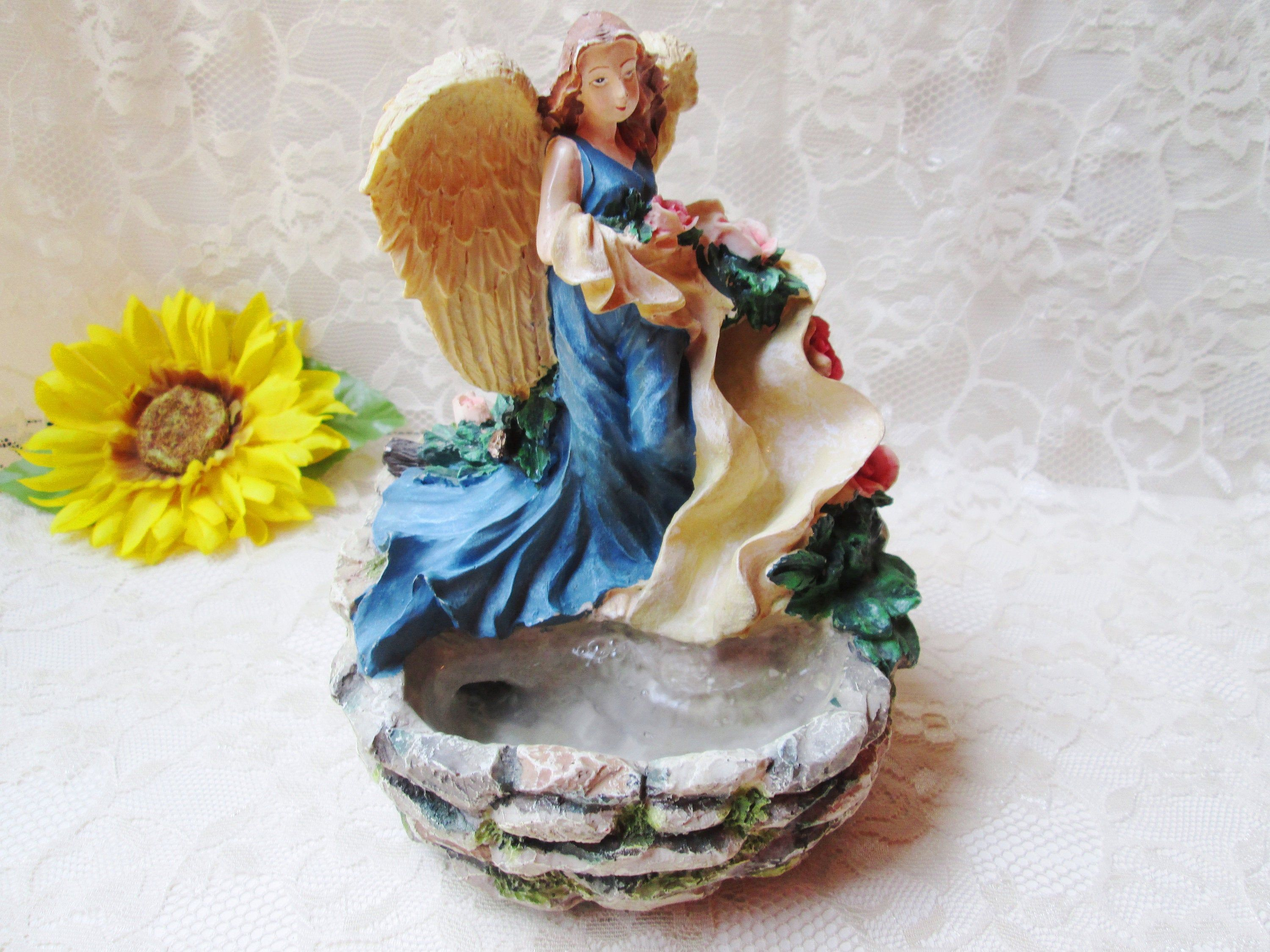 Angel Water Fountain Indoor Tabletop Fountain Table Top Etsy Tabletop Fountain Indoor Fountain Indoor Tabletop Fountains