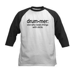 d36e91f5d7 Funny Drummer Definition Kids Baseball Jersey