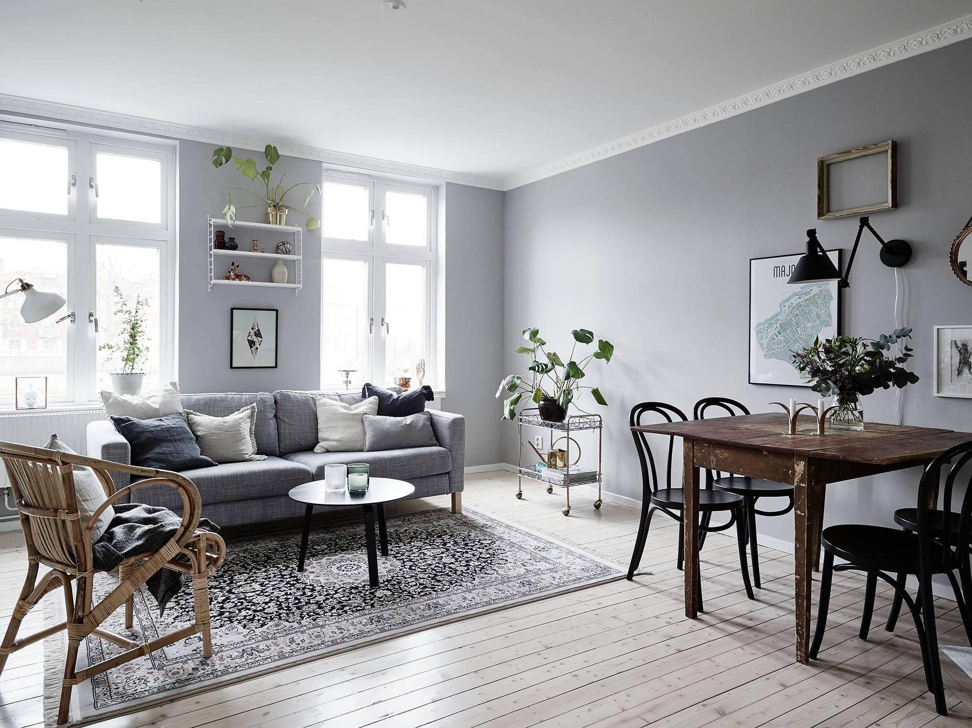 Soft Grey Home Via Cocolapinedesigncom Paint Colors - Apartment soft minimalist decor