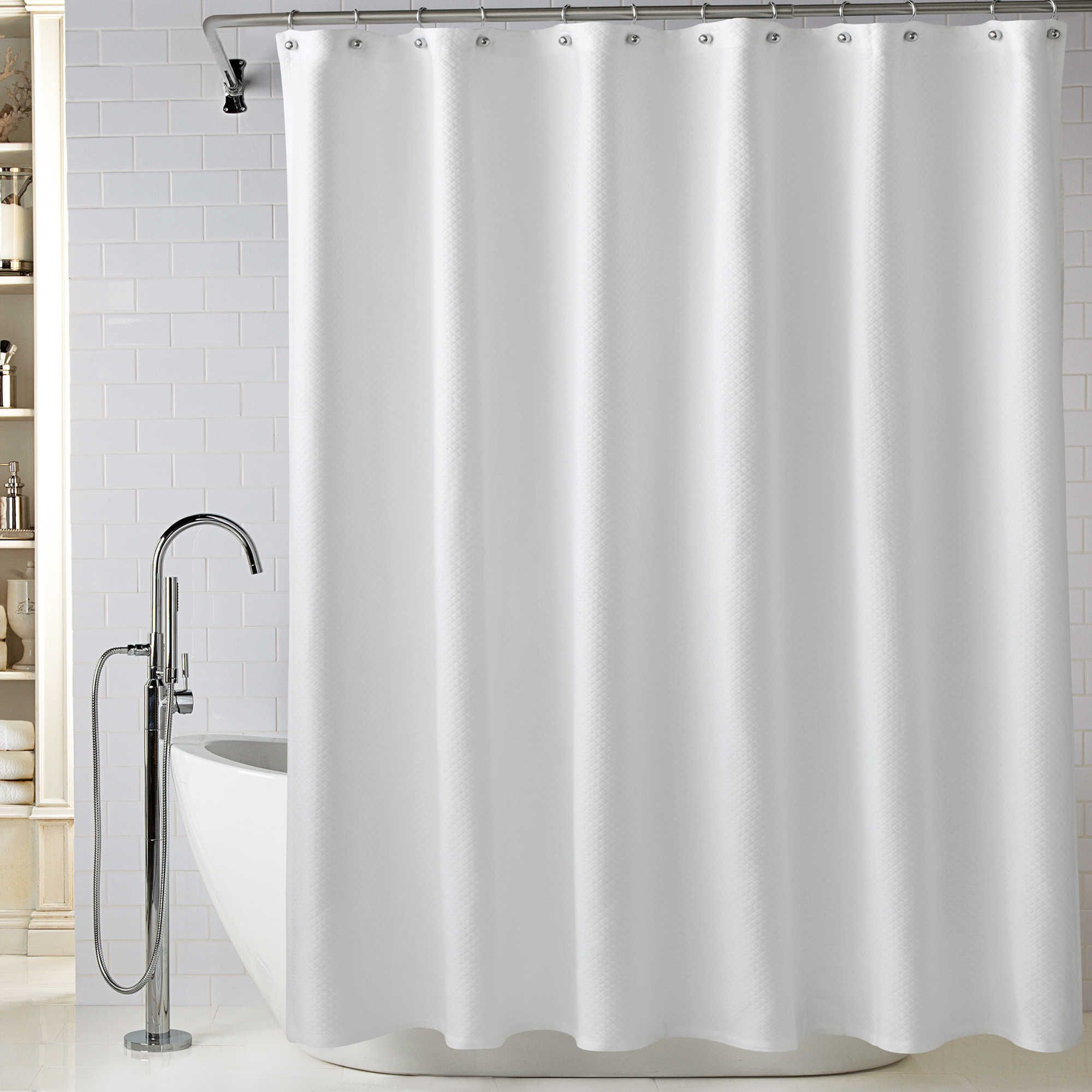 Lamont Home Diamond Matelassé 72 Inch X 96 Extra Long Shower Curtain