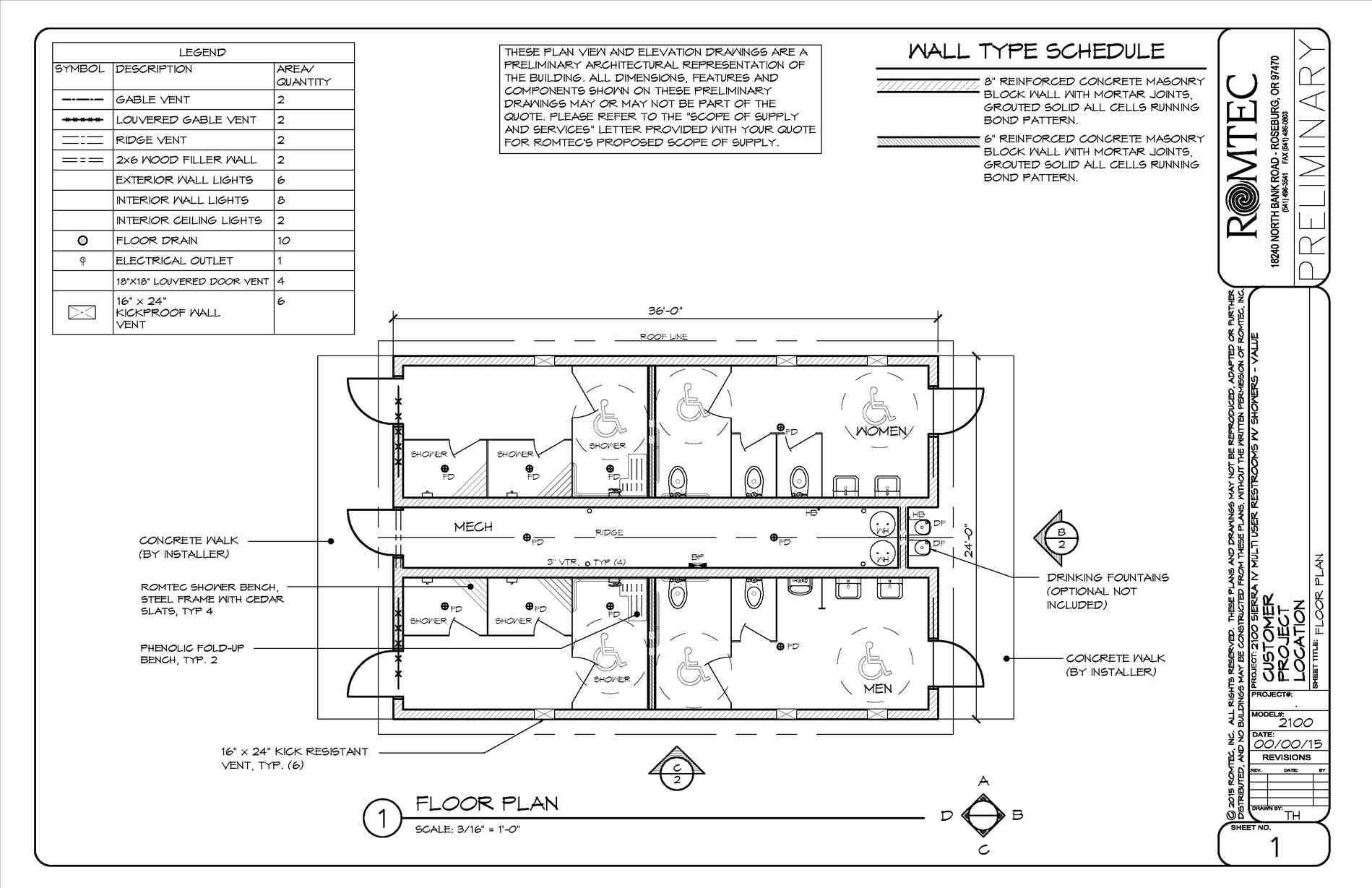 This Public Bathroom Plan