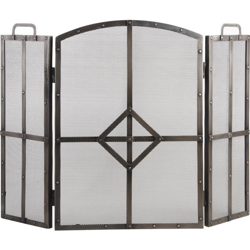 Pare-feu de cheminée en fer forgé 3 panneaux wish list Pinterest - meuble salle de bain fer forge
